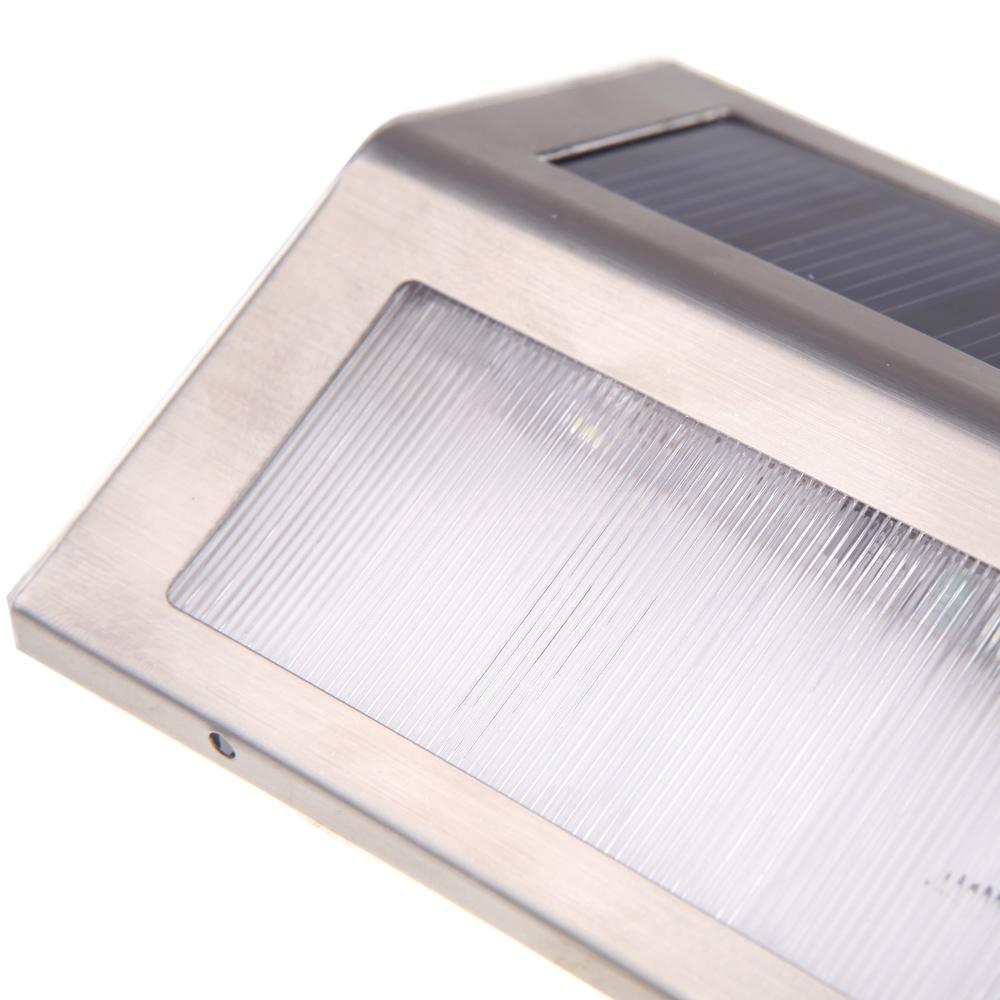 Solar LED Light Garden Outdoor Stair Step Lamp Water Resistant Rechargeable F3P6