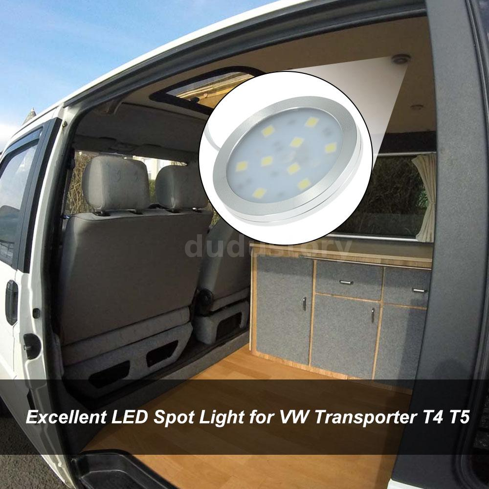 For Vw T4 T5 Transporter Camper Van 6x 12v Interior Led Spot Lights Slim N3d8